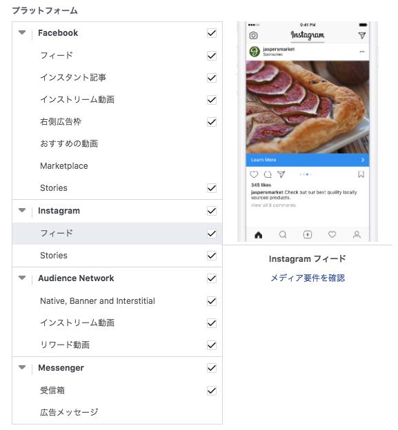 Facebook広告の配信先
