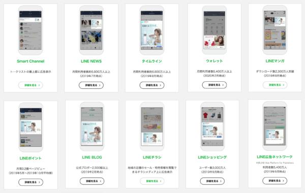 LINE広告(旧:LINE Ads Platform)広告配信面