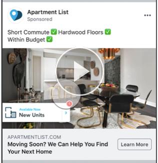 Facebook広告 Apartmentlist
